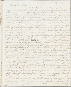 Letter from Evelina A. S. Smith, Hingham, [Mass.], to Caroline Weston, Oct. 22, 1842