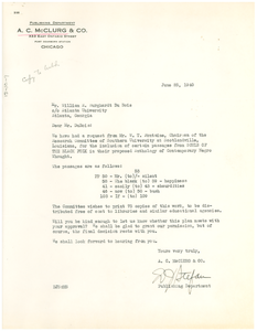 Letter from A. C. McClurg & Co. to W. E. B. Du Bois