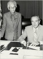 Grace Towns Hamilton and George Busbee