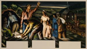 The Underground Railroad (mural study, Dolgeville, New York Post Office)