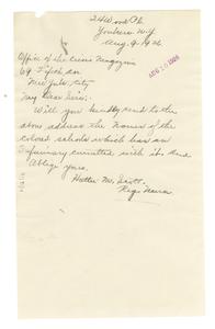 Letter from Hattie M. Scott to Crisis