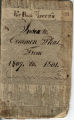 Minute Book and Index of Knox County Court of Common Pleas 1807-1810