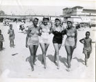 African American Women posing on Chicken Bone Beach in Atlantic City, New Jersey