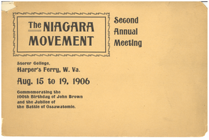 Thumbnail for The Niagara movement Second annual meeting