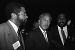 David Dinkins talking with an interviewer, Los Angeles, 1989