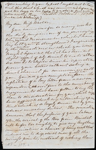 Thumbnail for Letter from Mary Anne Estlin, Bristol, [England], to Anne Warren Weston, October 1, 1850, [and] Monday morn[ing], Oct. 7, 1850