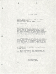Letter from William Saunders to Gedney M. Howe, Jr., October 30, 1978