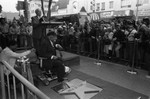Count Basie receiving his star on the Hollywood Walk of Fame, Los Angeles, 1982