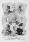 1. T. Thomas Fortune, journalist ; 2. Booker T. Washington, educator ; 3. Hon. Frederick Douglass, statesman ; 4. I. Garland Penn, author, orator, chief commissioner, Atlanta exposition ; 5. Miss Ida B. Wells, lecturer, defender of the race