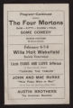 Willard Theatre, Various acts [date unknown] Various acts; Turning the tables; How Patsy went to war; Drummer and the maid; Devil, the servant, the man
