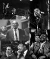 Images of Martin Luther King, Jr., speaking at St. Paul AME Church in Birmingham, Alabama.