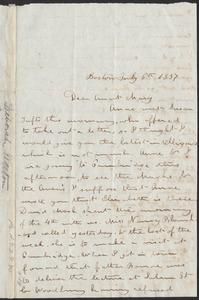 Letter from Deborah Weston, Boston, [Mass.], to Mary Weston, July 6th, 1837