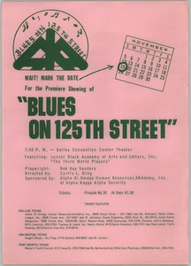 Poster for Blues on 125th Street Blues on 125th Street - Third World Players