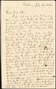 Letter from Richard Davis Webb, Dublin, [Ireland], to Mary Anne Estlin, 1853 July 26