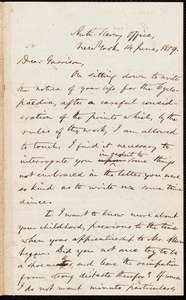 Letter from Oliver Johnson, New York, [N.Y.], to William Lloyd Garrison, 14 June, 1859