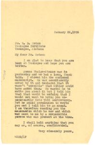 Letter from W. E. B. Du Bois to R. R. Moton