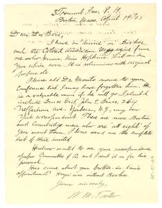 Letter from William Monroe Trotter to W. E. B. Du Bois
