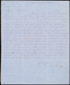 Letter from Mary Merrick Brooks, Concord, [Mass.], to Anne Warren Weston, Nov. 4th / [18]55