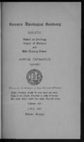 Catalog 1921-1922 Quadrennial Alumni Edition of Gammon Theological Seminary, Vol. XXVIII No 1