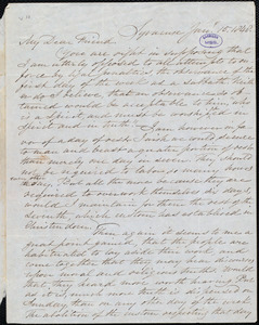 Letter from Samuel Joseph May, Syracuse, [N.Y.], to William Lloyd Garrison, Jan[uary] 15. 1848