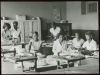 African-American High School Age Girls Baking