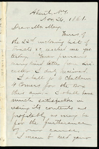 Letter from Aaron Macy Powell, Ghent, N.Y, to Samuel May, Nov. 26, 1861