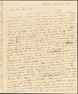 Letter from Edmund Quincy, Dedham, [Mass.], to Caroline Weston, Aug. 14, 1842