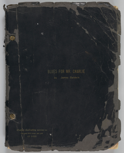 """""""Blues for Mr. Charlie by James Baldwin"""" annotated manuscript"""