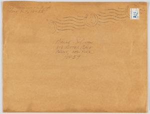 Envelope sent from William Scott to Maxine Sullivan