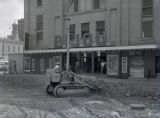Thumbnail for Bijou Theatre, construction in front of theater, 1957 July 17