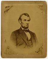 Large Albumen Portrait of Abraham Lincoln