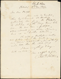 Letter from John Greenleaf Whittier, Philadelphia, [Pennsylvania], to Amos Augustus Phelps, 1839 [January] 18