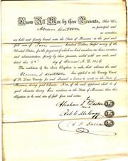 Abraham S. Dutton Free Negro Bond