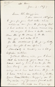 Letter from Lucy Stone to Thomas Wentworth Higginson, 1873 Jan[uary] 3