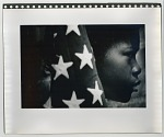 Young boy with American flag