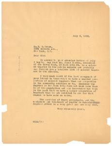 Letter from W. E. B. Du Bois to Roscoe C. Bruce