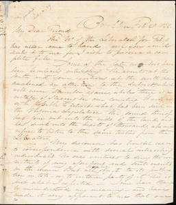 Letter from Samuel Joseph May, Brooklyn, [Connecticut], to William Lloyd Garrison, 1832 Feb[ruary] 29