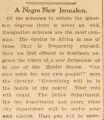 """""""A Negro New Jerusalem."""""""