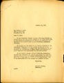 Acknowledgment letter of 1947 February 19