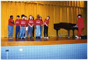 [Choir Children on Stage with Piano Player] San Antonio Chapter of Links Records
