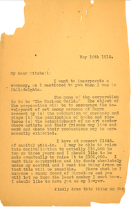 Letter from W. E. B. Du Bois to George W. Mitchell