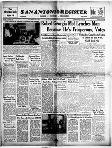San Antonio Register (San Antonio, Tex.), Vol. 18, No. 46, Ed. 1 Friday, December 3, 1948 San Antonio Register