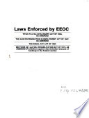 Laws enforced by the U.S. Equal Employment Opportunity Commission