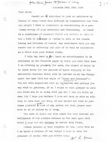 Transcript of Letter from John Rice Jones to James F. Perry, February 15, 1835 Austin Papers: Series IV, 1834-1835 (1 of 2)