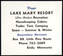 Sign for Flagg's Lake Mary Resort