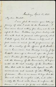 Letter from William Lloyd Garrison, Roxbury, [Mass.], to Wendell Phillips Garrison, April 13, 1868