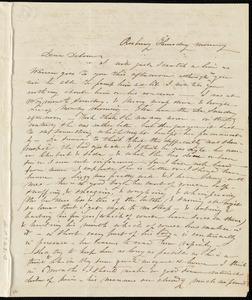 Letter from Caroline Weston, Roxbury, [Mass.], to Deborah Weston, Thursday morning, [1840?]