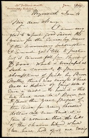 Letter to] My dear Mary [manuscript