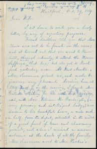 Letter from William Lloyd Garrison, Hartford, [Conn.], to Helen Eliza Garrison, Oct. 29, 1869