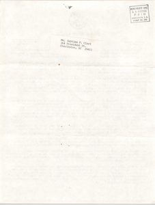Letter from James B. Edwards to Septima P. Clark, January 17, 1977